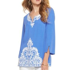 Lilly Pulitzer | Charlotte Blue Embroidered Tunic